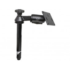 "Single Swing Arm with 8"" Male Tele-Pole™ VESA Base 75mm"